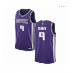 Mens Sacramento Kings 9 Cory Joseph Authentic Purple Basketball Jersey Icon Edition