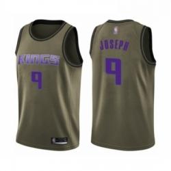 Mens Sacramento Kings 9 Cory Joseph Swingman Green Salute to Service Basketball Jersey