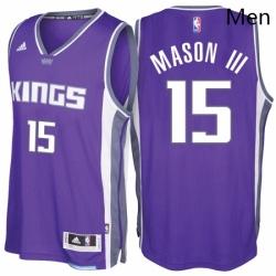 Sacramento Kings 15 Frank Mason III Road Purple New Swingman Stitched NBA Jersey
