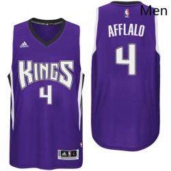 Sacramento Kings 4 Arron Afflalo Road Purple New Swingman Jersey