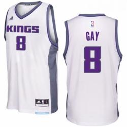 Sacramento Kings 8 Rudy Gay 2016 17 Seasons White Home New Swingman Jersey