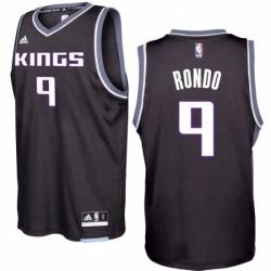 Sacramento Kings 9 Rajon Rondo 2016 17 Seasons Black Alternate New Swingman Jersey
