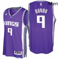 Sacramento Kings 9 Rajon Rondo 2016 17 Seasons Purple Road New Swingman Jersey