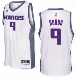 Sacramento Kings 9 Rajon Rondo 2016 17 Seasons White Home New Swingman Jersey