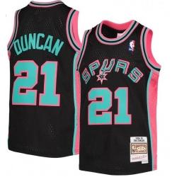 Men San Antonio Spurs 21 Tim Duncan Green 1998 99 Hardwood Classics Jersey