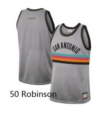Men Spurs 50 David Robinson Nike City Edition Grey Jersey