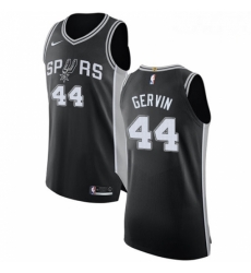 Mens Nike San Antonio Spurs 44 George Gervin Authentic Black Road NBA Jersey Icon Edition