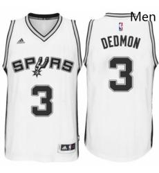 Mens San Antonio Spurs 3 Dewayne Dedmon adidas White Player Swingma Jersey