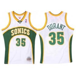 Men SEATTLE SUPERSONICS Kevin Durant 35 Replica Swingman Seattle Sonics NBA Jersey White