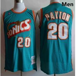 Men Seattle SuperSonics Gary Payton 20 Mitchell Ness Jersey