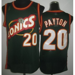 Seattle SuperSonics 20 Gary Payton Green Throwback Revolution 30 NBA Jerseys