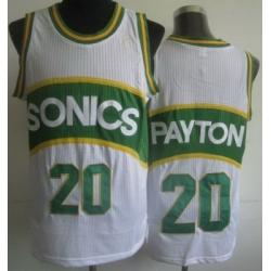 Seattle SuperSonics 20 Gary Payton White Hardwood Classics Revolution 30 NBA Jerseys