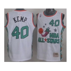 Seattle SuperSonics 40 Shawn Kemp 1996 All Star White Throwback Jersey