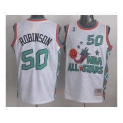 Seattle SuperSonics 50 David Robinson 1996 All Star White Throwback Jersey