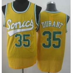 Seattle Supersonic 35 Kevin Durant Yellow Revolution 30 NBA Basketball Jerseys