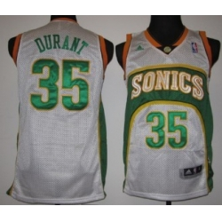Seattle Supersonics #35 Kevin Durant White Swingman Jerseys