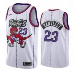 Men Raptors #23 Fred VanVleet white Throwback NBA Jersey
