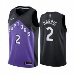Men Toronto Raptors 2 Jalen Harris Purple NBA Swingman 2020 21 Earned Edition Jersey