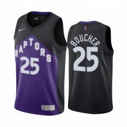 Men Toronto Raptors 25 Chris Boucher Purple NBA Swingman 2020 21 Earned Edition Jersey