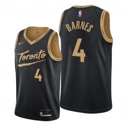Men Toronto Raptors 4 Scottie Barnes Black NBA Swingman 2020 21 City Edition Jersey