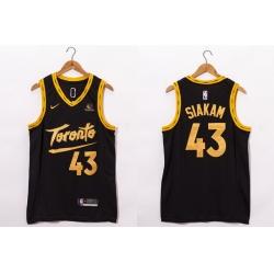 Men Toronto Raptors 43 Pascal Siakam Black 2021 Nike City Edition Swingman Jersey With The Sponsor Logo