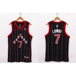 Men Toronto Raptors 7 Kyle Lowry Black 2021 Brand Jordan City Edition Swingman Jersey With The Sponsor Logo