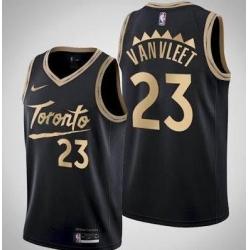Men Toronto Raptors Fred VanVleet Black 2020 New City Edition Jersey