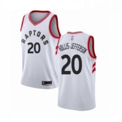 Mens Toronto Raptors 20 Rondae Hollis Jefferson Authentic White Basketball Jersey Association Edition