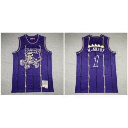 Raptors 1 Tracy McGrady Purple 1998 99 Hardwood Classics Jersey