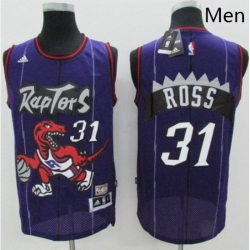 Raptors 31 Terrence Ross Purple Hardwood Classics Stitched NBA Jersey