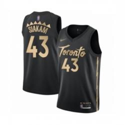 Raptors 43 Pascal Siakam Black Basketball Swingman City Edition 2019 20 Jersey