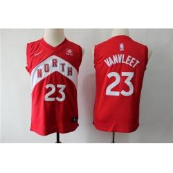 Raptors 23 Fred Vanvleet Red Youth Earned Edition Nike Swingman Jersey