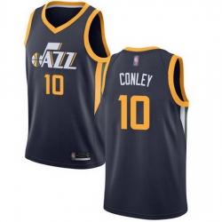 Jazz  10 Mike Conley Navy Basketball Swingman Icon Edition Jersey