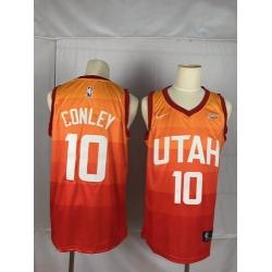 Jazz 10 Mike Conley Orange City Edition Nike Swingman Jersey