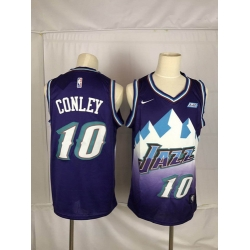 Jazz 10 Mike Conley Purple Nike Swingman Jersey
