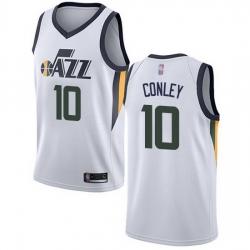 Jazz  10 Mike Conley White Basketball Swingman Association Edition Jersey