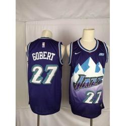 Jazz 27 Rudy Gobert Purple Nike Swingman Jersey