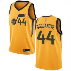 Jazz  44 Bojan Bogdanovic Yellow Basketball Swingman Statement Edition Jersey