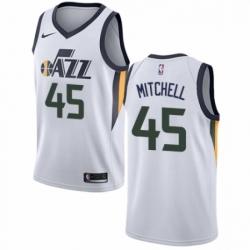 Mens Nike Utah Jazz 45 Donovan Mitchell Swingman NBA Jersey Association Edition
