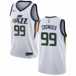 Mens Nike Utah Jazz 99 Jae Crowder Swingman NBA Jersey Association Edition