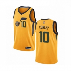Mens Utah Jazz 10 Mike Conley Authentic Gold Basketball Jersey Statement Edition