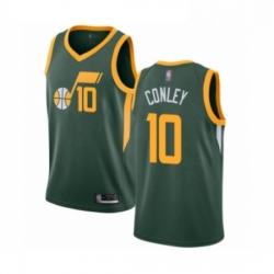 Mens Utah Jazz 10 Mike Conley Green Swingman Jersey Earned Edition