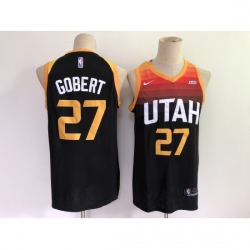 Men's Utah Jazz #27 Rudy Gobert Nike Black City Player Jersey