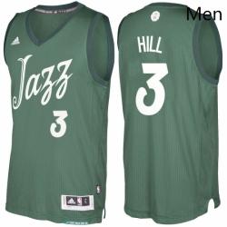 Mens Utah Jazz 3 George Hill Green 2016 2017 Christmas Day NBA Swingman Jersey