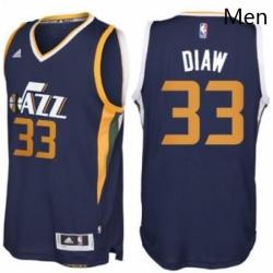 Mens Utah Jazz 33 Boris Diaw adidas Navy Blue New Swingman Road Jersey