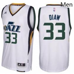 Mens Utah Jazz 33 Boris Diaw adidas White New Swingman Home Jersey