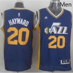Revolution 30 Jazz 20 Gordon Hayward Navy Blue Stitched NBA Jersey