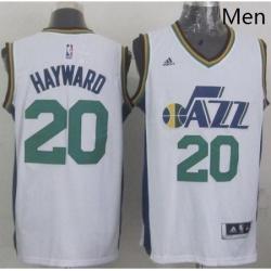 Revolution 30 Jazz 20 Gordon Hayward White Stitched NBA Jersey