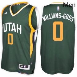 Utah Jazz 0 Nigel Williams Goss Alternate Green New Swingman Stitched NBA Jersey