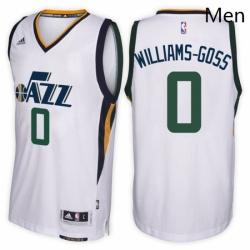 Utah Jazz 0 Nigel Williams Goss Home White New Swingman Stitched NBA Jersey